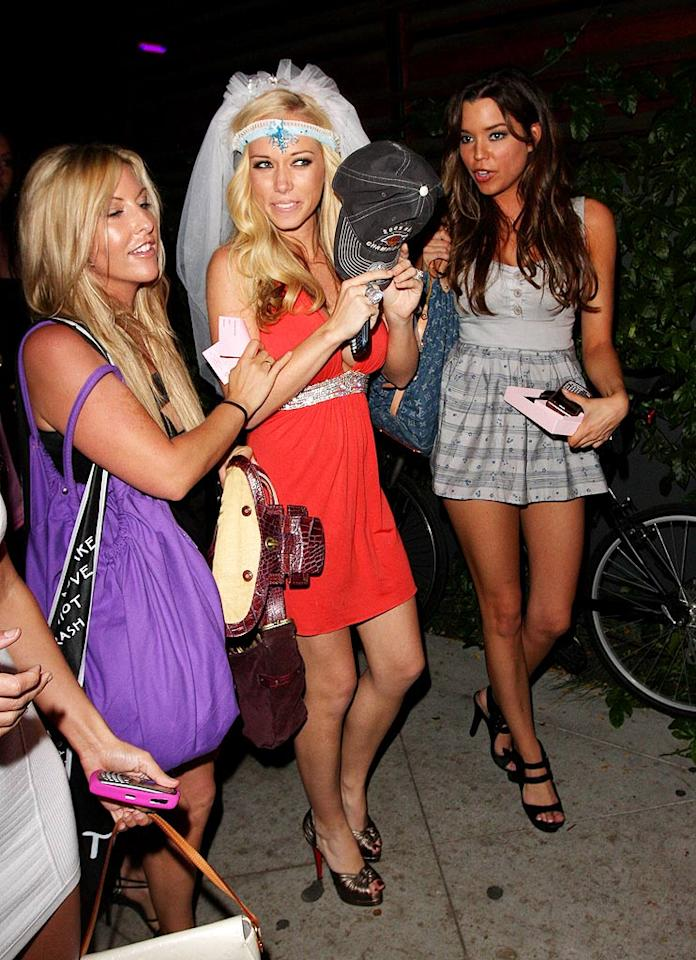 "Kendra Wilkinson's girlfriends threw her a bachelorette bash at Guys and Dolls in West Hollywood, California. Since she's pregnant, we hope she didn't party too hard! Octavio R Vera Jr/<a href=""http://www.splashnewsonline.com/"" target=""new"">Splash News</a> - June 19, 2009"