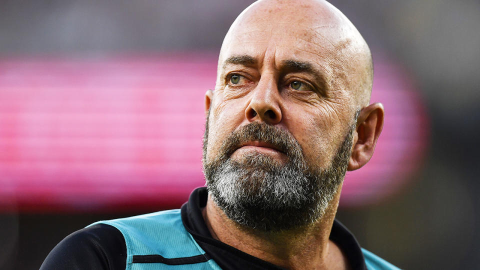 Darren Lehmann has opened up about the heart problem that saw him rushed to hospital in February 2020. (Photo by Stefan Gosatti/Getty Images)