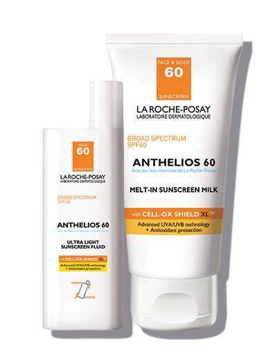 "<h2>La Roche-Posay Anthelios Sunscreen Face & Body SPF 60</h2> <br><strong>Best: Moisturizing Sunscreen</strong><br>Both dermatologist-recommended and sensitive-skin tested, this antioxidant-rich and paraben-free formula provides fast-absorbing and water-resistant coverage that protects against broad spectrum UV-exposure.<br><br><strong>The Hype:</strong> 4.6 out of 5 stars and 265 reviews on La Roche-Posay<br><br><strong>Reviewers Say:</strong> ""Love this lotion! Creamy texture and doesn't dry out my skin. No weird feel to it like some SPF lotions. I have very dry skin. I can use on face and body.""<br><br><strong>Deals: </strong>Get <strong>$10 off </strong>on a bundled Anthelious Face & Body Set at <strong><a href=""https://www.laroche-posay.us/sunscreen/anthelios-spf-60-face-body-sunscreen-set-antheliossunscreenset.html"" rel=""nofollow noopener"" target=""_blank"" data-ylk=""slk:La Roche-Posay"" class=""link rapid-noclick-resp"">La Roche-Posay</a> </strong><br><br><strong>La Roche-Posay</strong> Anthelios SPF 60 Face & Body Sunscreen Set, $, available at <a href=""https://go.skimresources.com/?id=30283X879131&url=https%3A%2F%2Fwww.laroche-posay.us%2Fsunscreen%2Fanthelios-spf-60-face-body-sunscreen-set-antheliossunscreenset.html"" rel=""nofollow noopener"" target=""_blank"" data-ylk=""slk:La Roche-Posay"" class=""link rapid-noclick-resp"">La Roche-Posay</a><br><br><br><br><br><br><br><br>"