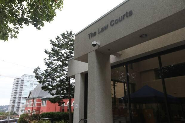 The New Westminster law courts on Aug. 30, 2021. A lawsuit being heard at the courts alleges that two RCMP officers were grossly negligent in their use of force against a Surrey trucker; police say their use of force was justified. (David P. Ball/CBC - image credit)
