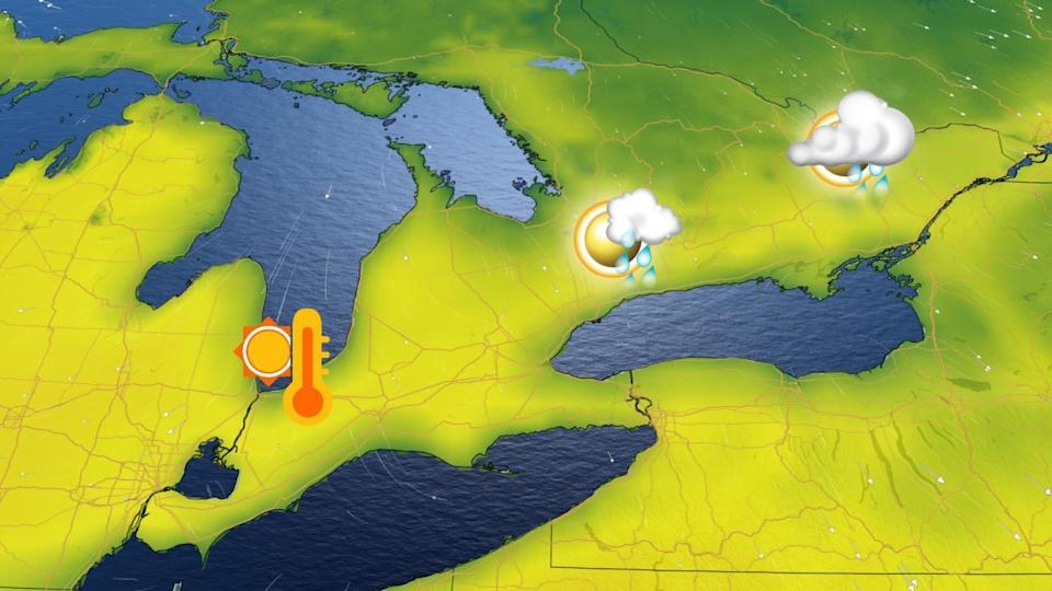 Ontario: Quick shot of mild air but unsettled weather looms for the weekend
