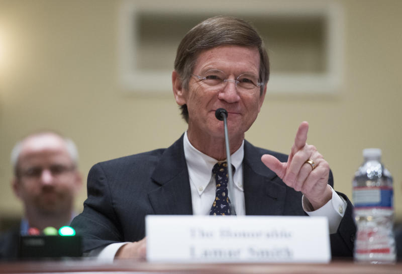 Rep. Lamar Smith (R-Texas), chairman of the House Committee on Science, Space, and Technology, announced Thursday that he would not seek re-election in 2018. (Bill Clark/CQ Roll Call via Getty Images)