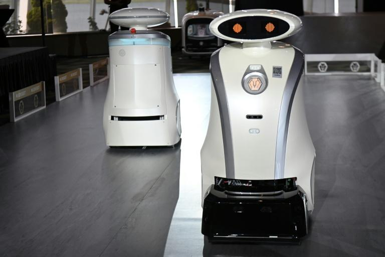The cleaning robots speak all four of multi-ethnic Singapore's official languages (AFP Photo/Roslan RAHMAN)