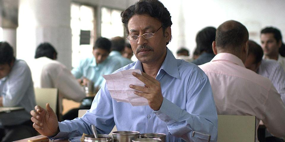 "<p>Ready the appetite; this one's a feast for the eyes. A feel-good story starring Irrfan Khan, it hinges on a wrongly delivered lunchbox, aka the catalyst for a pen-pal romance between a widower and an unhappy housewife. It's like You've Got Meal... Get it? <a class=""link rapid-noclick-resp"" href=""https://www.amazon.com/dp/B00KGENZI4?tag=syn-yahoo-20&ascsubtag=%5Bartid%7C10056.g.6498%5Bsrc%7Cyahoo-us"" rel=""nofollow noopener"" target=""_blank"" data-ylk=""slk:Watch Now"">Watch Now</a></p>"
