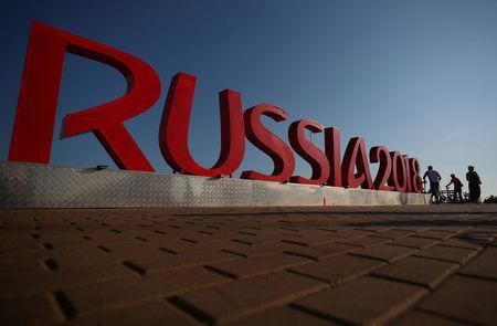 Soccer Football - World Cup - Sochi, Russia - June 12, 2018 General view of a World Cup sign in Sochi REUTERS/Hannah McKay
