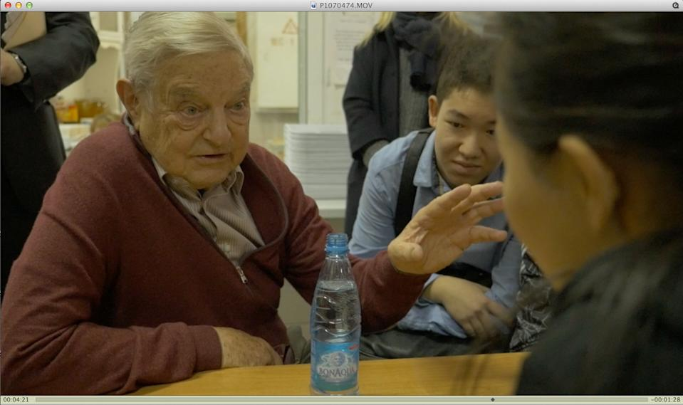 George Soros in a scene from Jesse Dylan's new documentary, 'Soros' (Photo: Abramorama)