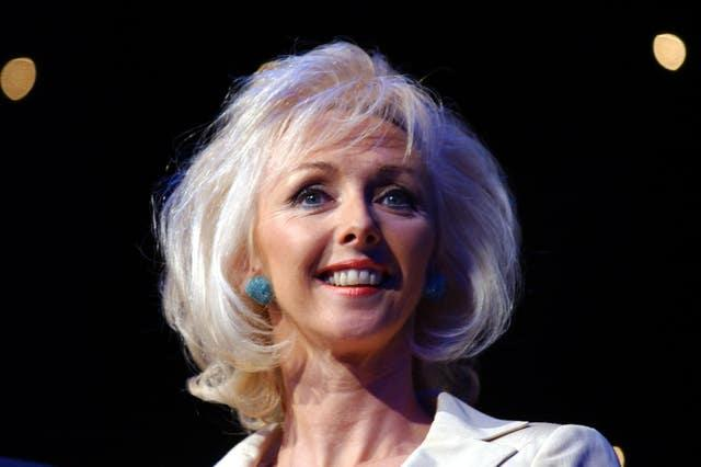 Debbie McGee attending the 2002 TRIC (Television & Radio Industries Club) Awards at the Le Meridien Grosvenor House Hotel in London