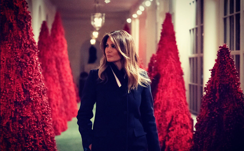 White House 2019 Christmas Twitter Is Screaming Over the White House's Eerie Christmas