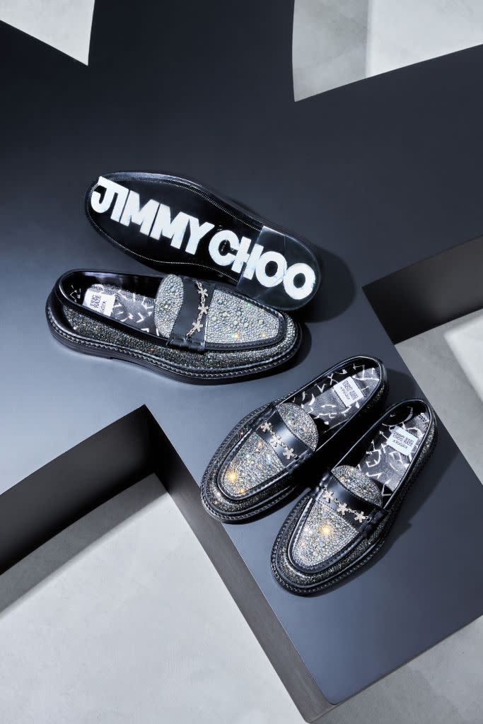 Jimmy Choo's collab with Poggy and artist Eric Haze. - Credit: Courtesy of JImmy Choo