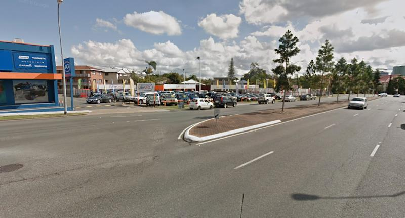 The teenagers were approached on Logan Road (pictured), near the intersection with Bardsley Road in Greenslopes