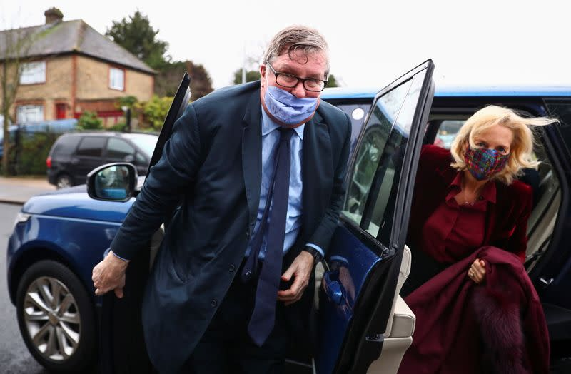 Hedge fund manager Odey arrives at Hendon Magistrates' Court