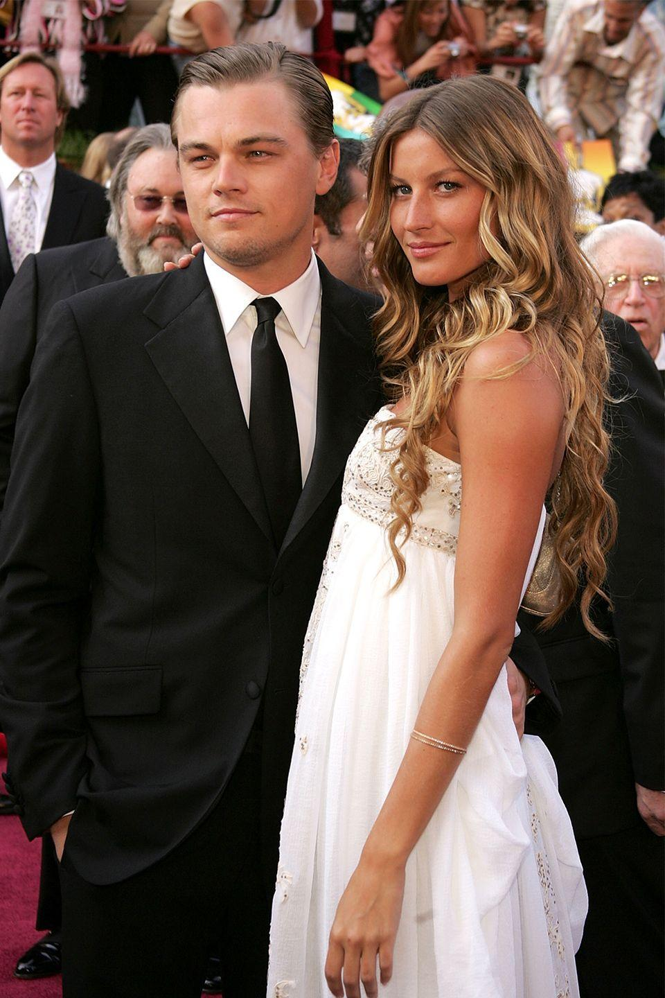"""<p>Before she was married to Tom Brady, Gisele Bündchen dated Leonardo DiCaprio—and it wasn't just a casual fling. The two were together for five years before splitting in 2005. Four years later, the model still had nothing but nice things to say about the <em>Titanic </em>actor. </p><p>""""We were just not meant to be boyfriend and girlfriend, but I respect him enormously, and I wish him nothing but the best,"""" she told <em><a href=""""http://www.accessonline.com/articles/gisele-bundchen-talks-husband-tom-brady-loving-his-son-like-her-own-69344/"""" rel=""""nofollow noopener"""" target=""""_blank"""" data-ylk=""""slk:Access Hollywood"""" class=""""link rapid-noclick-resp"""">Access Hollywood</a></em>.</p>"""