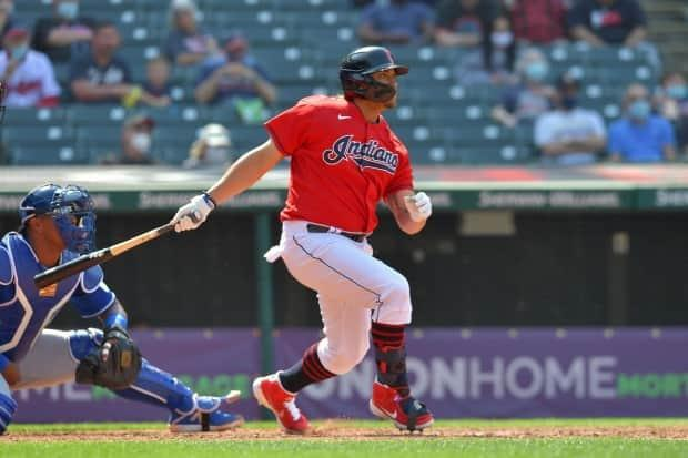 Naylor set a MLB record last fall when he hit safely in his first five post-season at-bats.