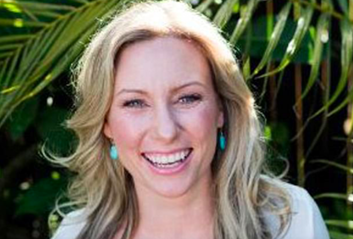 <em>Justine Damond was killed in her pyjamas when she approached the police car (AP)</em>