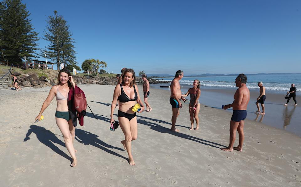 People are seen in Byron Bay, New South Wales, Saturday, September 11, 2021. Source: AAP