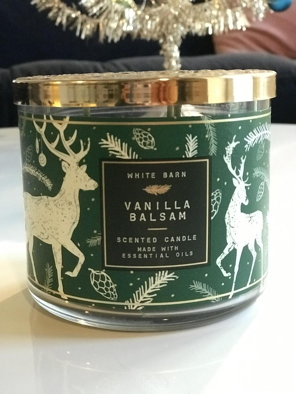 <p><span>Vanilla Balsam 3-Wick Candle</span> ($15, originally $25)</p> <p><strong>What It Smells Like:</strong> If evergreen trees could be sweet - does that even make sense? You have to smell it for yourself. </p>