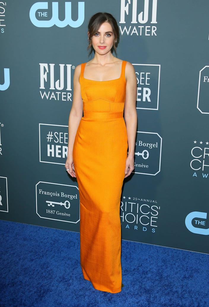 Alison Brie at the 25th Annual Critics' Choice Awards 2020 (AFP via Getty Images)