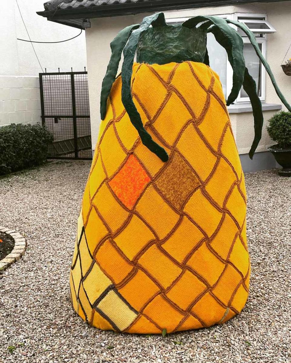 The group of 15 women created a giant knitted pineapple as their show stopper (Collect/PA Real Life).