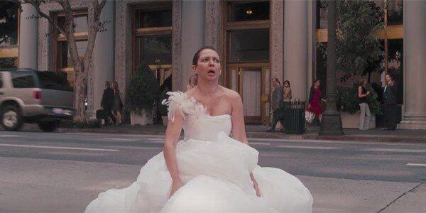 Bridesmaid's maya rudolph suffered intense food poisoning as her character Lillian