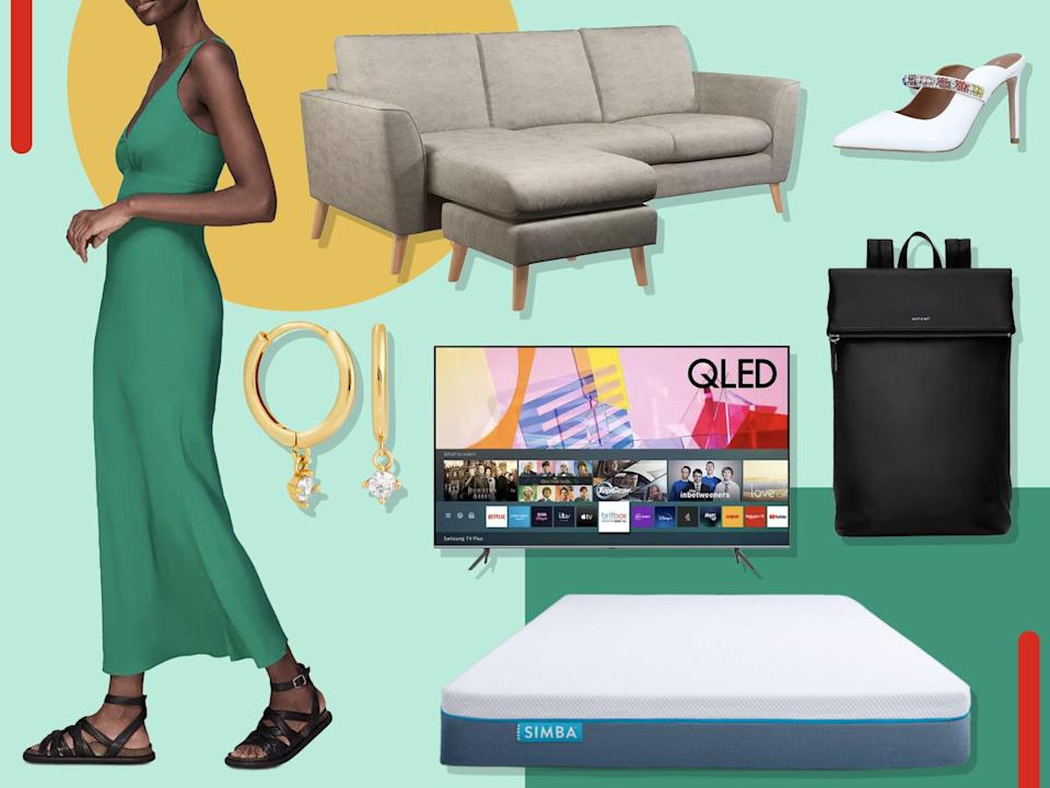 There's savings to be found on mattresses, clothing, accessories, TVs, sofas, lighting and more  (The Independent)