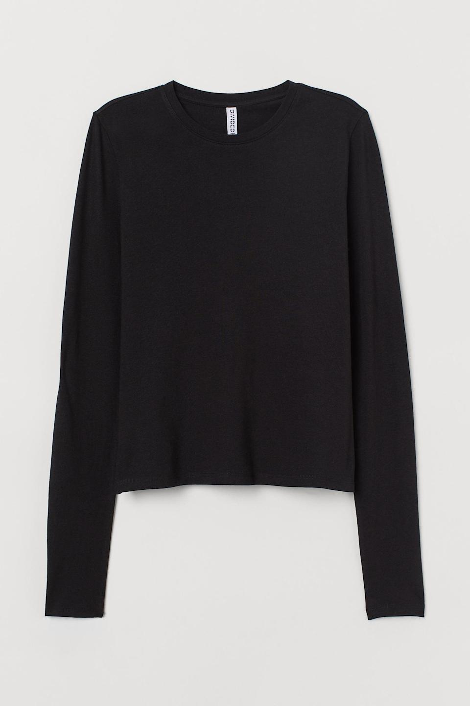 <p>Everyone needs a basic like this <span>Long-Sleeved Top</span> ($10).</p>