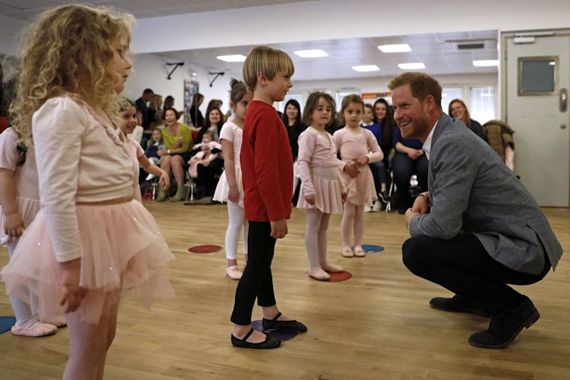 The Duke of Sussex made the comments on a visit to the YMCA in South Ealing. (PA)