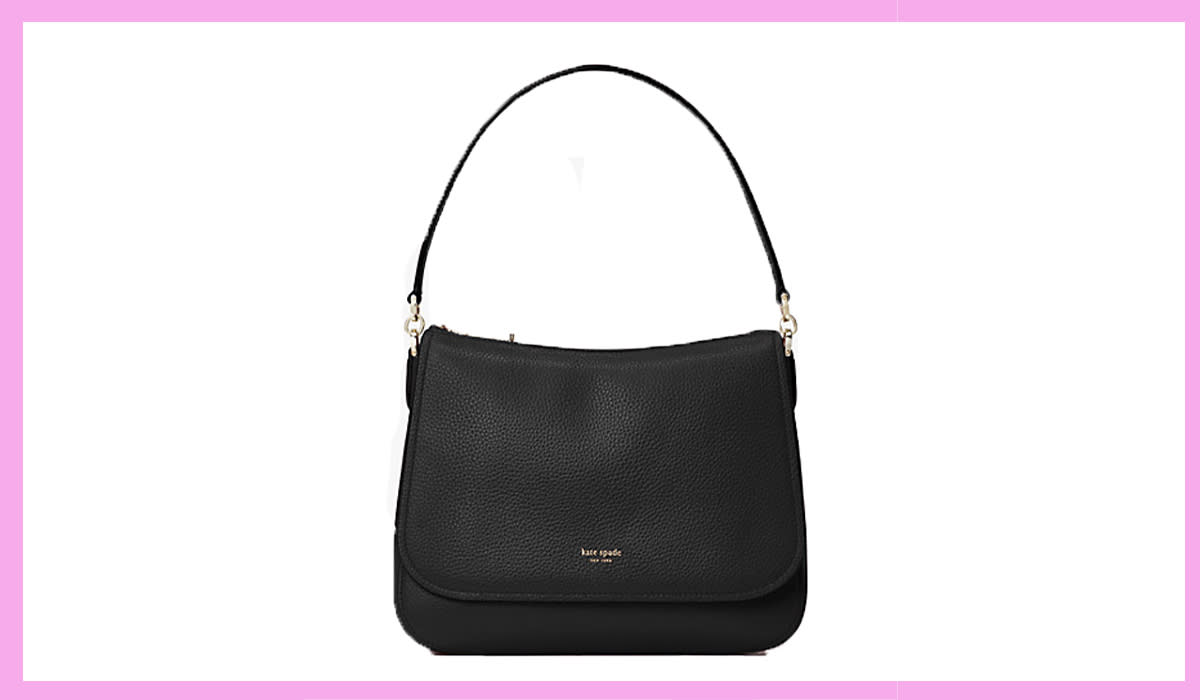 How cute is this shoulder bag? Very. It's also 70 percent off! (Photo: Kate Spade)