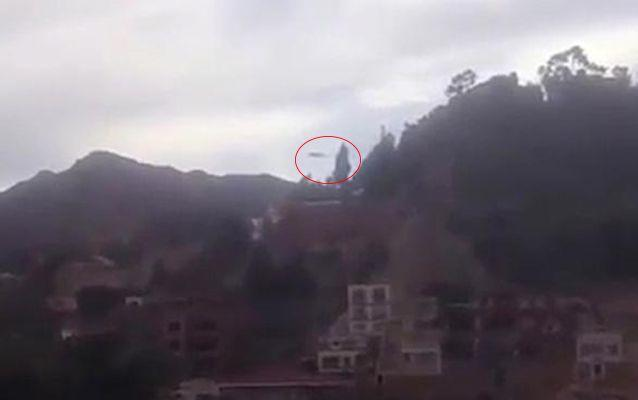 The UFO spotted over El Alto. Source: YouTube.