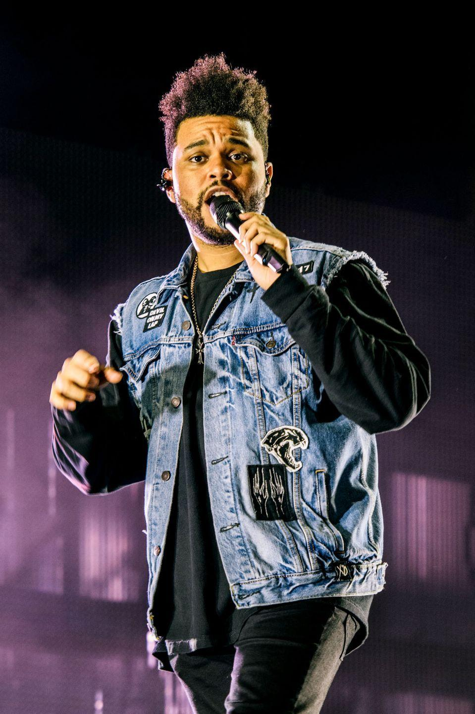 """<p><strong>Born</strong>: Abel Makkonen Tesfaye<strong><br></strong></p><p>It probably goes without saying that The Weeknd's first name is not """"The,"""" and his last name not """"Weeknd."""" The singer was born as Abel Makkonen Tesfaye. </p><p>He revealed during a <a href=""""http://www.mtv.com/news/1714103/the-weeknd-reddit-ama/"""" rel=""""nofollow noopener"""" target=""""_blank"""" data-ylk=""""slk:Reddit Ask Me Anything"""" class=""""link rapid-noclick-resp"""">Reddit Ask Me Anything</a> that he chose his stage name after leaving home as a teenager. """"I left home when I was about 17 dropped out of high school and convinced Lamar to do the same lol,"""" he said, referring to a member of his crew. """"We grabbed our mattresses from our parents threw it in our friends shitty van and left one weekend and never came back home. It was gonna be the title of HOB [<em>House of Balloons</em>]. I hated my name at the time though so I tried it as a stage name. It sounded cool. I took out the """"e"""" because there was already a Canadian band named the weekend (copyright issues).""""</p>"""
