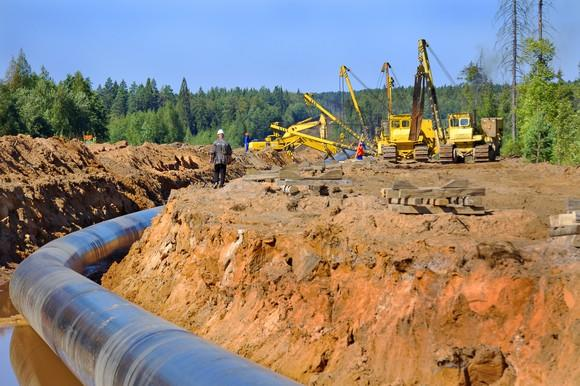 Pipeline under construction