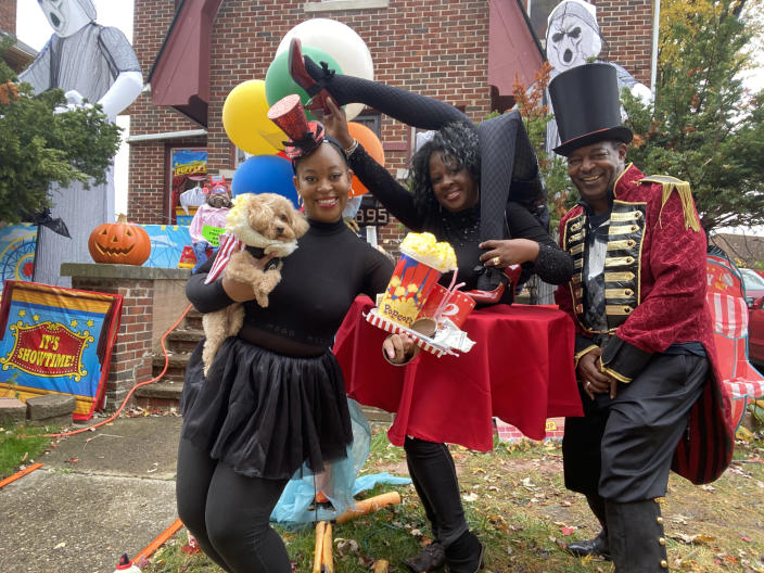 The Robinson family as a carnival on TODAY  (Courtesy of the Robinson family)