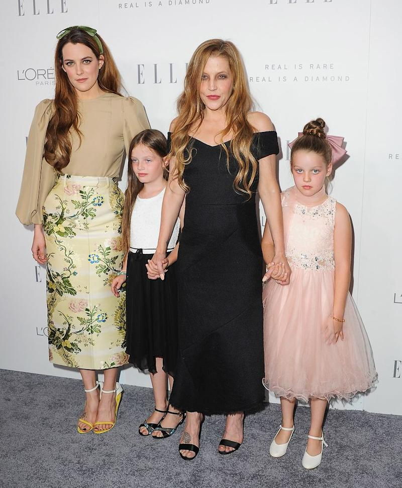Lisa Marie Presley and her daughters