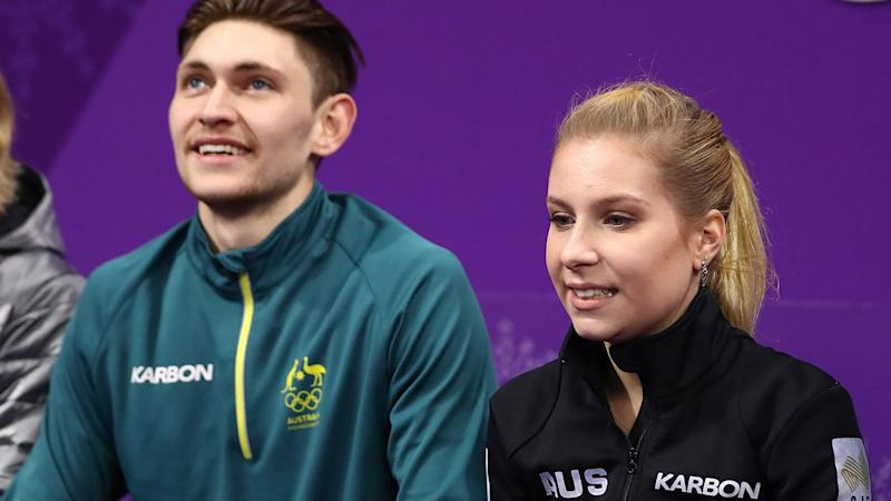 Harley Windsor and Ekaterina Alexandrovskaya, pictured here at the 2018 Winter Olympics.