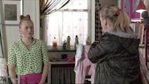 <p>She explains that she's not depressed, she just didn't want Paul to find out about the surprise party.</p>