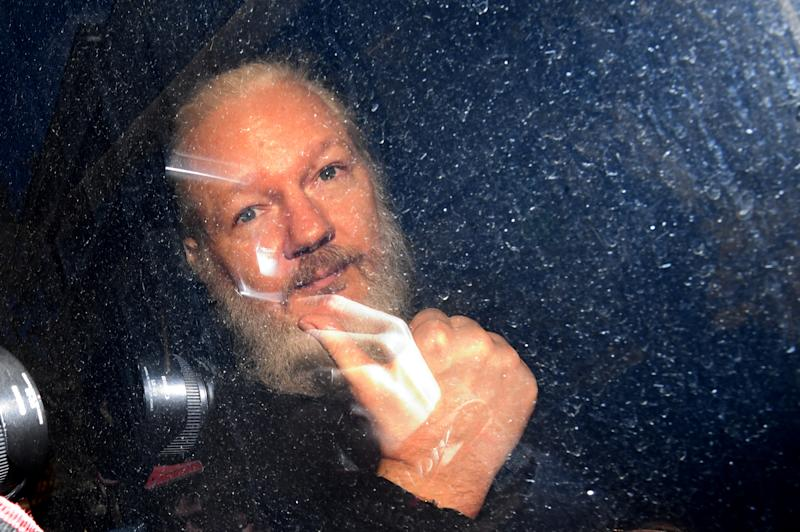 PA REVIEW OF THE YEAR 2019 File photo dated 11/04/19 of Julian Assange arriving at Westminster Magistrates' Court in London, after the WikiLeaks founder was arrested by officers from the Metropolitan Police and taken into custody following the Ecuadorian government's withdrawal of asylum.