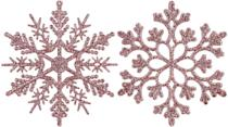 <p>Let it snow with this dazzling set of 36 <span>Sea Team Plastic Christmas Glitter Snowflake Ornaments</span> ($13). </p>