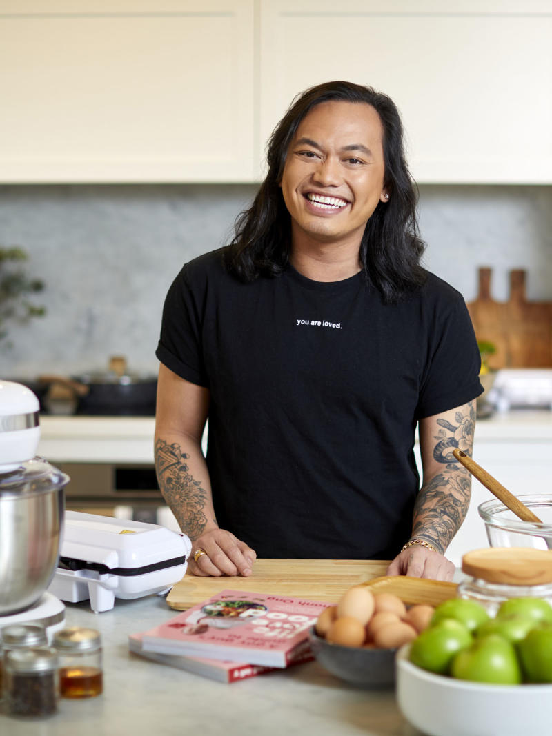 MasterChef star Khanh Ong poses for Kmart Cooking masterclass