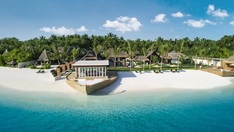 To celebrate its fifth anniversary, the Maldives' tranquil Jumeirah Vittaveli has kicked its already-luxurious accommodations into overdrive with this month's unveiling of the lavish five-bedroom Royal Residence. Tucked away from the resort's other villas and suites on its own private stretch of sandy white beach, the nearly 38,000-square-foot complex serves as an entirely self-sustaining resort-within-a-resort.