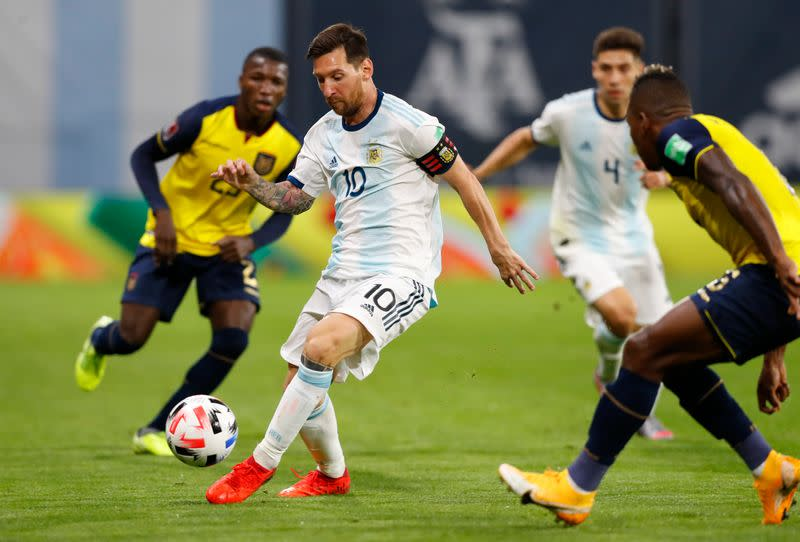 Messi penalty gives Argentina winning start over Ecuador