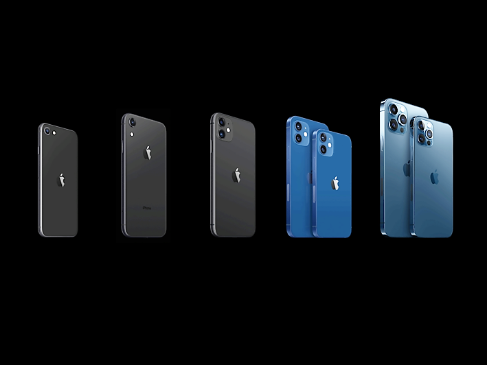 Apple has added the iPhone 12 range of phones to its existing lineup (Apple)