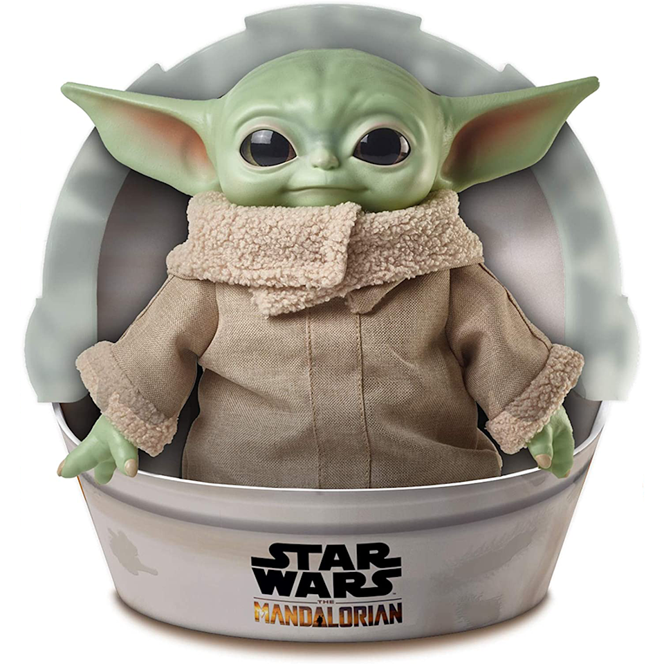 """<p><strong>Mattel</strong></p><p>amazon.com</p><p><strong>$22.90</strong></p><p><a href=""""https://www.amazon.com/dp/B0825SNHP1?tag=syn-yahoo-20&ascsubtag=%5Bartid%7C10055.g.33609399%5Bsrc%7Cyahoo-us"""" rel=""""nofollow noopener"""" target=""""_blank"""" data-ylk=""""slk:Shop Now"""" class=""""link rapid-noclick-resp"""">Shop Now</a></p><p>Our love for Baby Yoda isn't going anywhere, so it makes perfect sense this adorable 11-inch plush made Amazon's list. </p><p><strong>RELATED:</strong> <a href=""""https://www.goodhousekeeping.com/holidays/gift-ideas/g29624061/star-wars-gifts/"""" rel=""""nofollow noopener"""" target=""""_blank"""" data-ylk=""""slk:The 32 Coolest Star Wars Gifts for Kids and Adults"""" class=""""link rapid-noclick-resp"""">The 32 Coolest Star Wars Gifts for Kids and Adults</a></p>"""