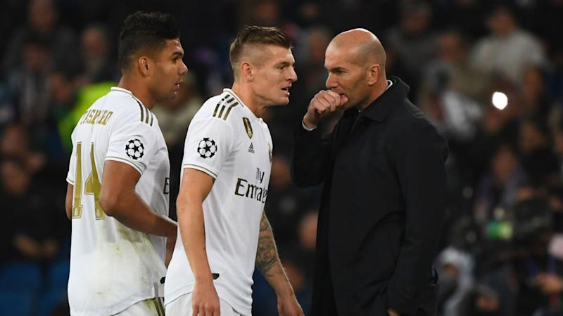 Toni Kroos Zinedine Zidane Real Madrid Champions League 06112019