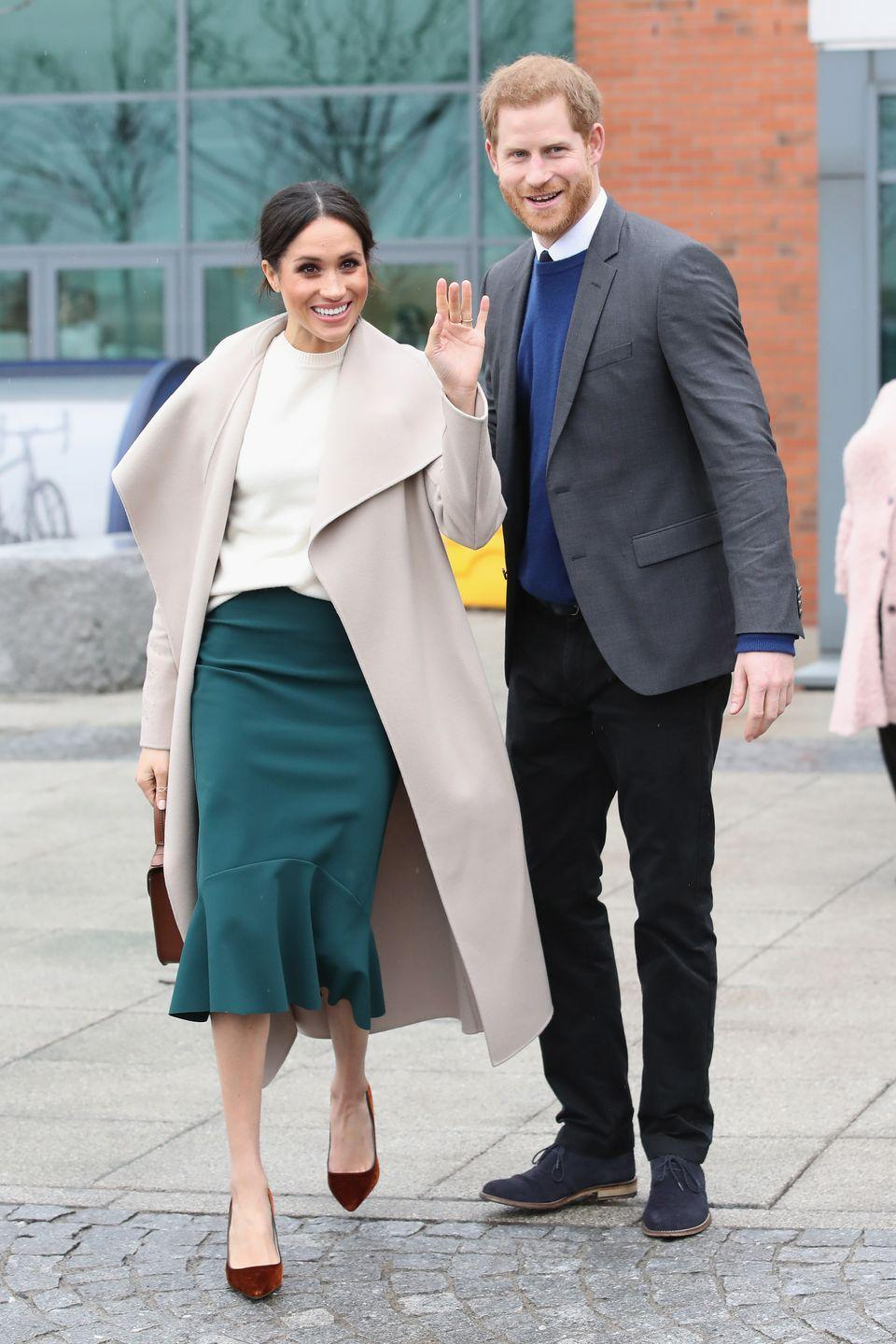 <p>Prince Harry and Meghan Markle visit Northern Ireland ahead of their May wedding. </p>