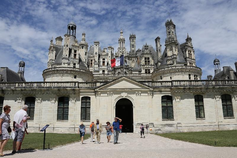 Commissioned nearly 500 years ago by King Francois I (1494-1547), the immense chateau remains the largest of the Loire grand estates, boasting 365 chimneys and a 5,500-hectare (21-square mile) estate (AFP Photo/LUDOVIC MARIN)