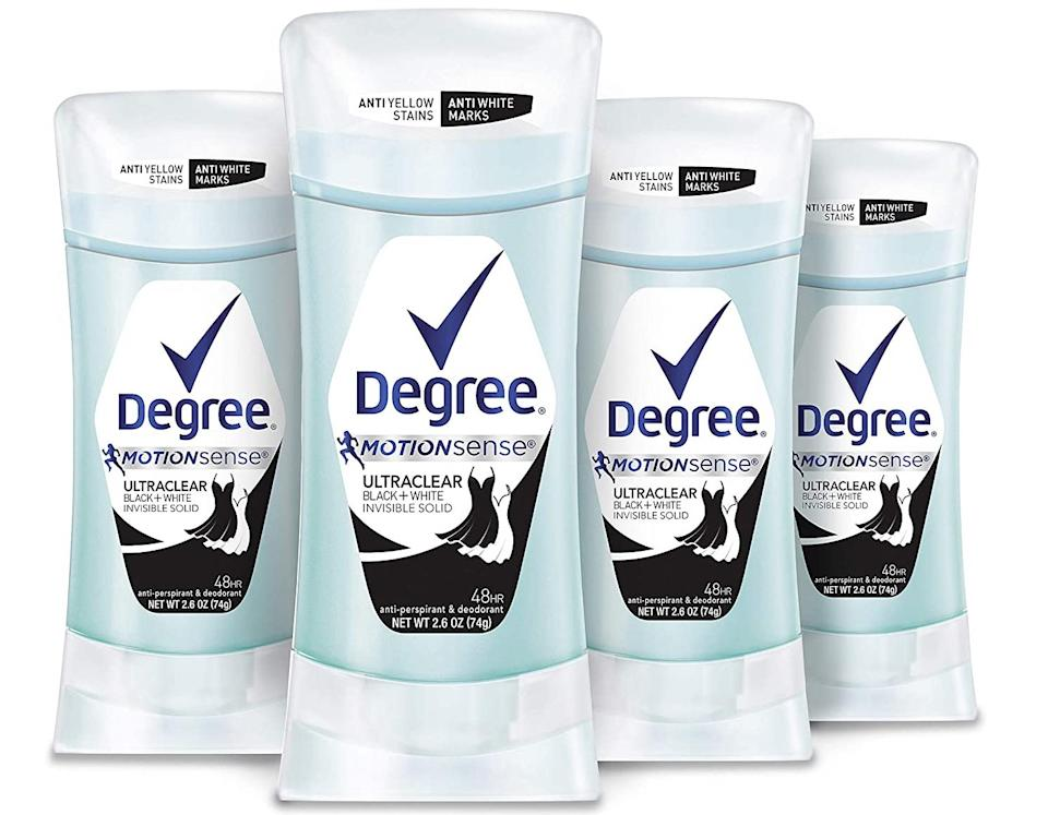This deodorant won't leave stains on your clothes. (Photo: Amazon)