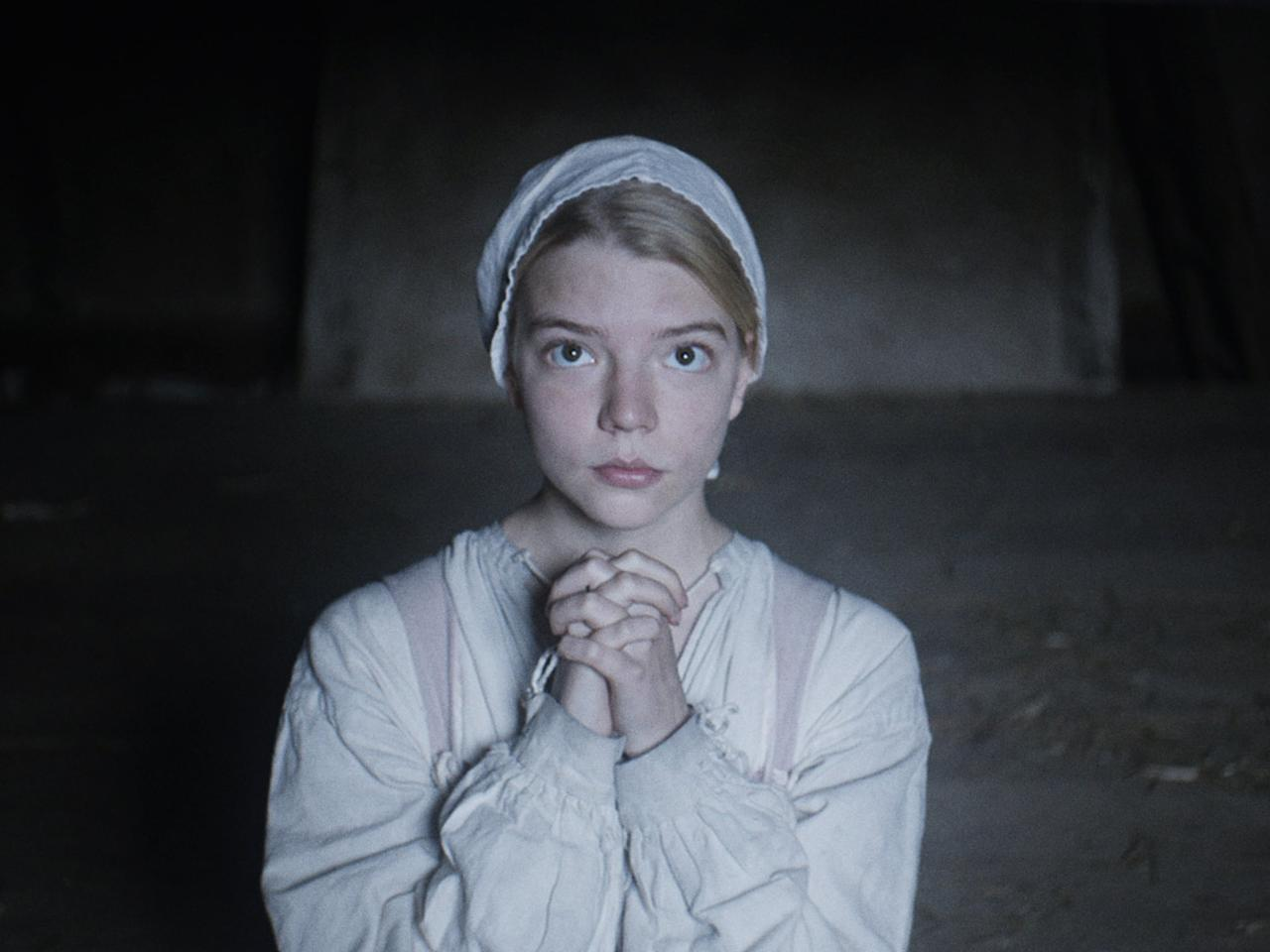 """<p>Anya Taylor-Joy plays Thomasin stars in this horror flick as a young woman who witnesses the disappearance of her youngest brother in 1630 New England and - as a result - is accused of witchcraft. Taylor-Joy plays Thomasin with such conviction that you actually believe she's trapped in a 17th-century waking nightmare, though her frightfully good performance is only matched by the demonic humanoid goat, Black Phillip. </p> <p><a href=""""http://www.netflix.com/title/80037280"""" target=""""_blank"""" class=""""ga-track"""" data-ga-category=""""Related"""" data-ga-label=""""http://www.netflix.com/title/80037280"""" data-ga-action=""""In-Line Links"""">Watch <strong>The Witch </strong>on Netflix</a>. </p>"""