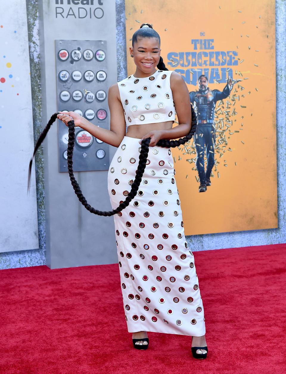 """Storm Reid attends the premiere of """"The Suicide Squad"""" at The Landmark Westwood in Los Angeles, CA. - Credit: AXELLE/BAUER-GRIFFIN / MEGA"""