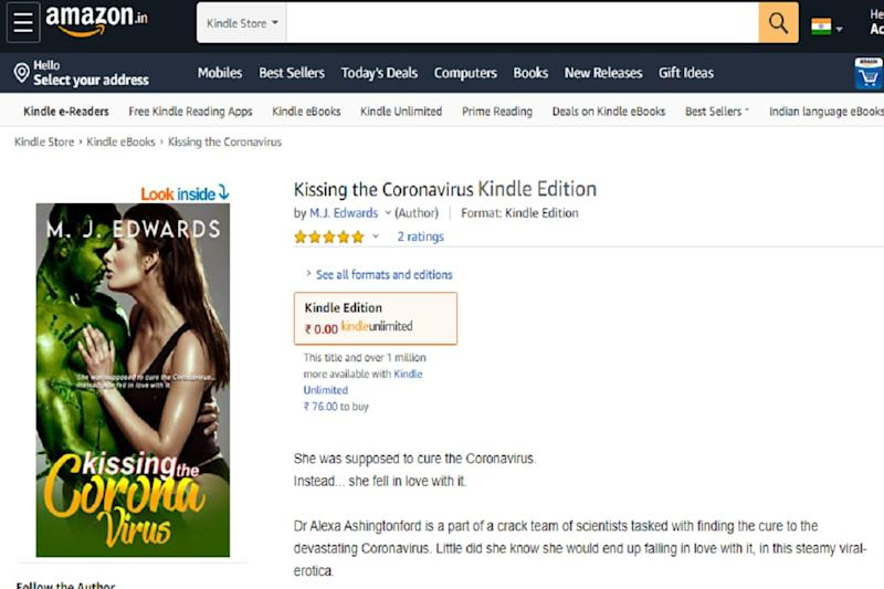 First-time Author's 'Kissing The Coronavirus' Book on Amazon is Making The Internet LOL
