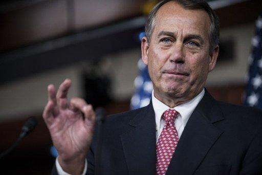 <p>Speaker of the House John Boehner (R-OH) speaks during a press briefing on Capitol Hill December 13, 2012. He went to the White House for talks with President Barack Obama on the so-called fiscal cliff.</p>