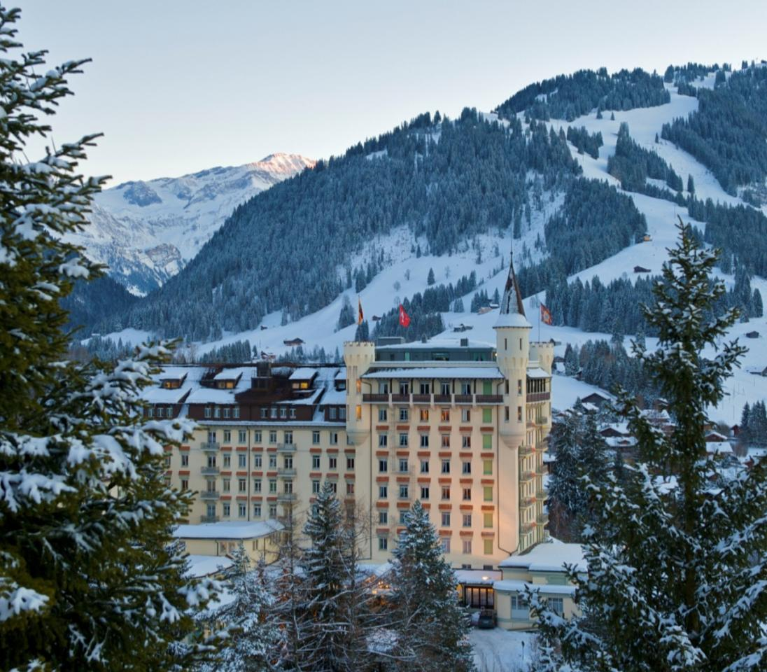 <p>If you are dreaming of a white Christmas then Gstaad Palace in Switzerland is the place to get yourself to. It's breathtaking mountain views and grand turreted hotel can't be topped. Plus, you are treated to Christmas- themed markets, cooking lessons and cinema. <i>[Photo: Gstaad Palace]</i></p>